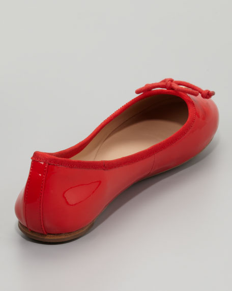 Chelsea Bow-Toe Patent Flat