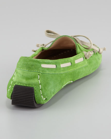 Dorian Suede Driving Moccasin, Green
