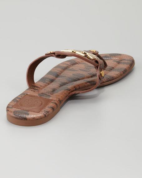 Miller2 Snake-Print Thong Sandal, Park Bench
