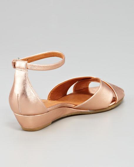 Metallic Sandal Rose Wedge Napa Gold H2EYDIe9Wb
