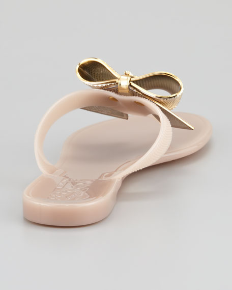 Bali Metal Bow Jelly Sandal, Loto Gellato/Cream