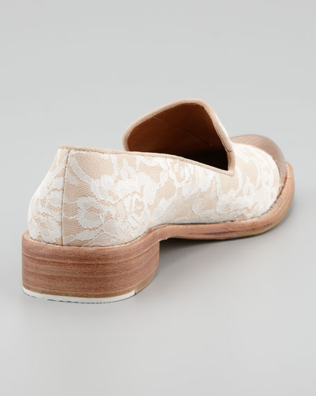Cap-Toe Lace Smoking Loafer