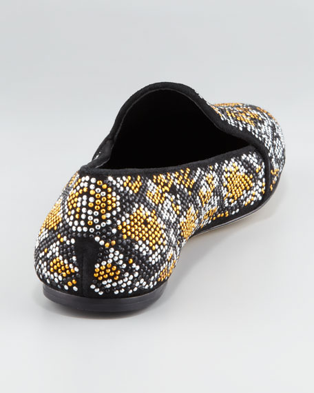 Studded Smoking Slipper, Black