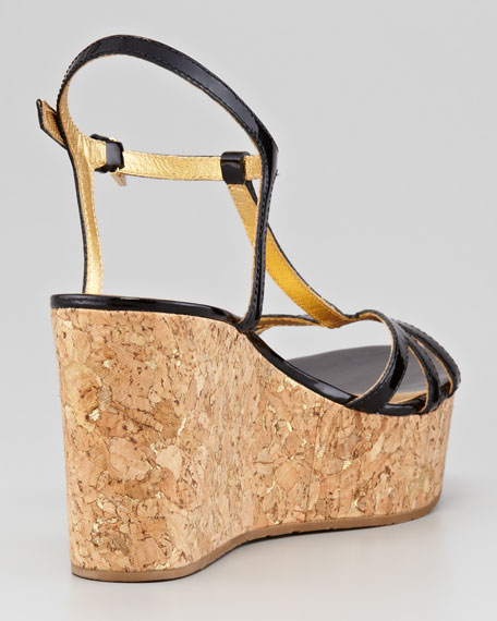 theodora cork wedge sandal