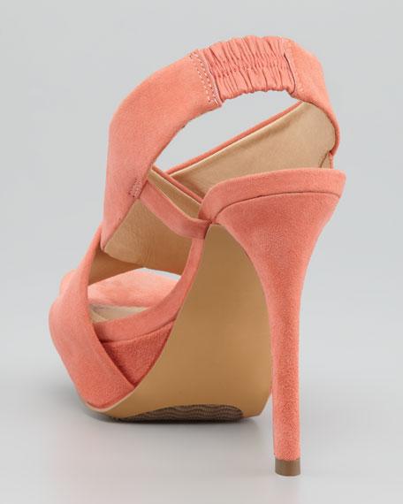 Zia II Crisscross Sandal, Peach Nectar