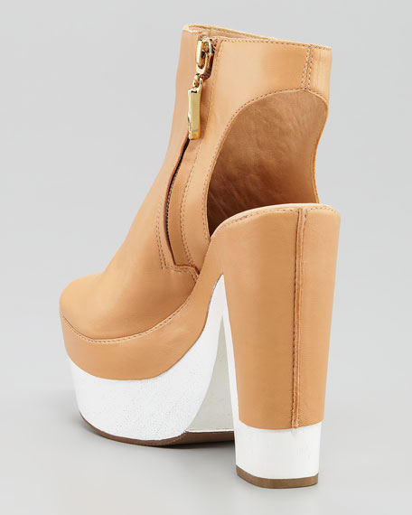 Rhoda Platform Sandal Bootie, Light Natural