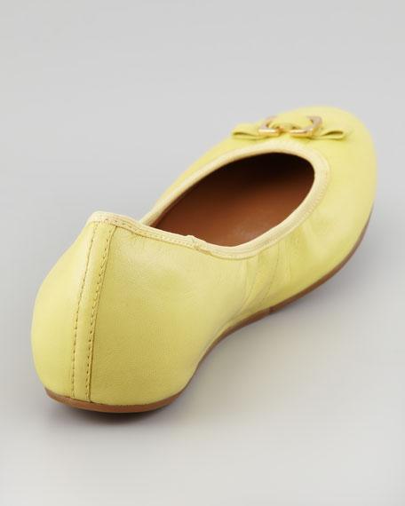 Bion Napa Ballerina Flat, Banana Cream