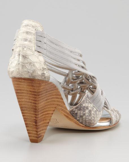Royce Elastic Strap Demi-Wedge Sandal