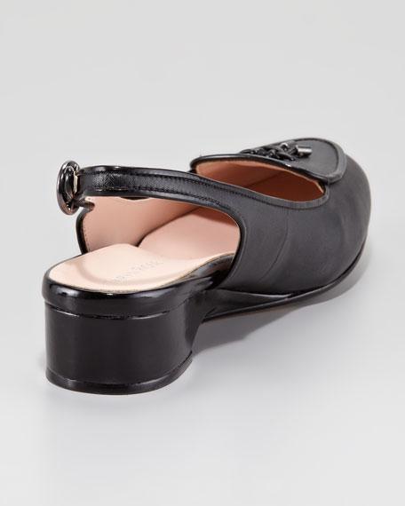 Florrie Low-Wedge Belgium Loafer, Black