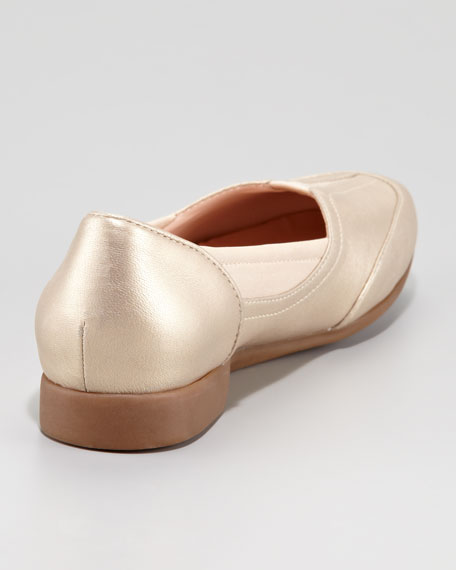 Thalian Gored Slip-On Loafer, Soft Gold