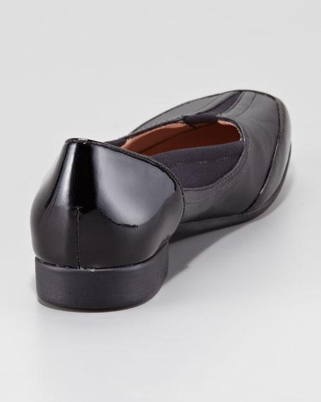 Thalian Gored Slip-On Loafer, Black