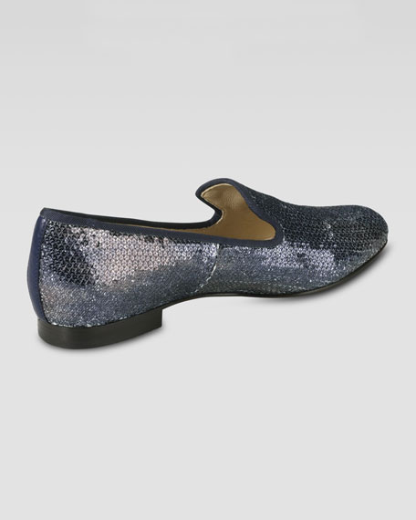 Sabrina Sequin Smoking Slipper, Smoke