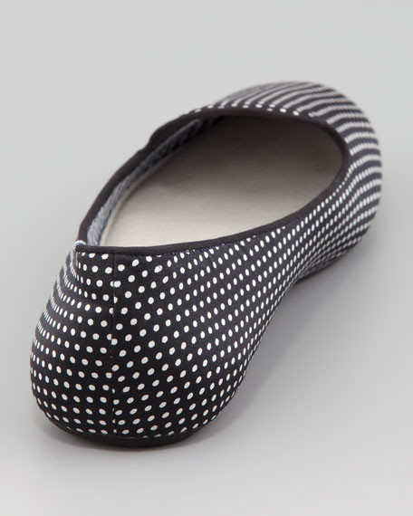 Eula Micro-Dotted Satin Slipper