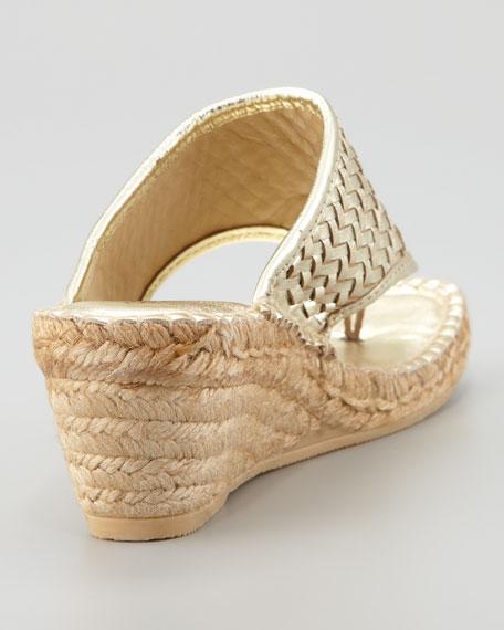 Alyssa Woven Wedge Espadrille, Gold