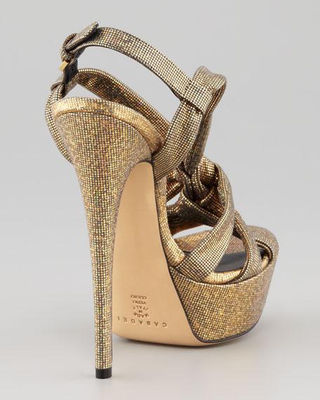 Disco Y-Strap Sandal, Gold