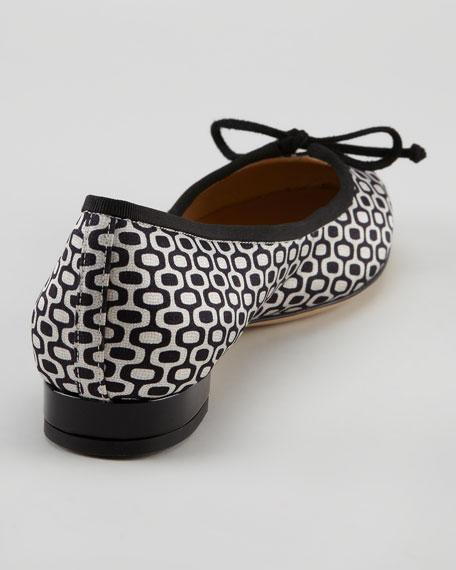 Darcy Optic-Print Ballerina Flat