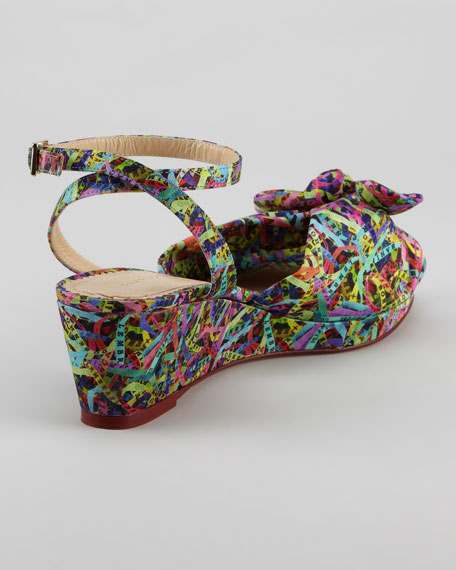 Alexa Printed Wedge Sandal