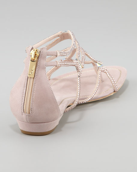Crystallized Flat Thong Sandal