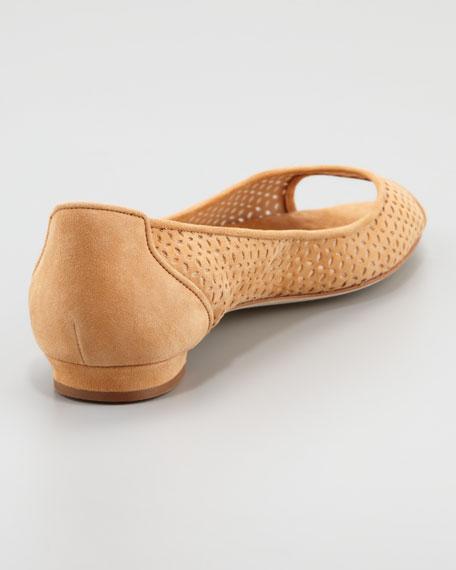 Anetina Perforated Ballerina Flat, Camel