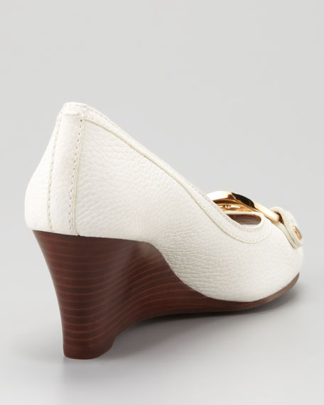 Amanda Open-Toe Wedge, Bleach