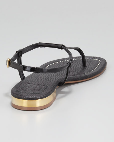 Britton Flat Thong Sandal, Black
