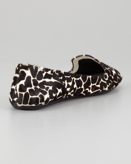 Wild-Thing Giraffe-Print Calf Hair Slipper