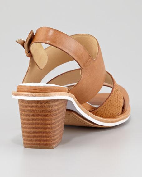 Folsom Mid-Heel Sandal, Tan