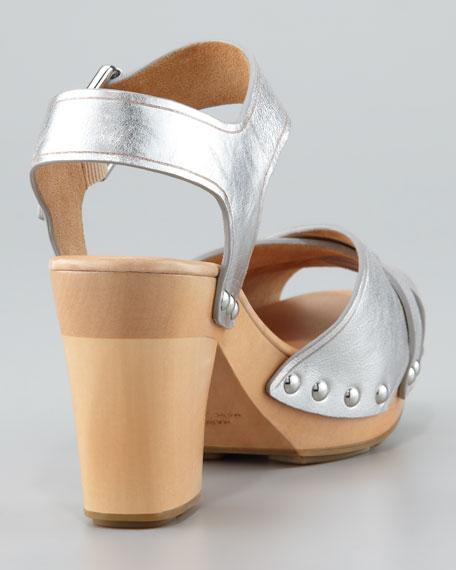 Metallic Clog Sandal