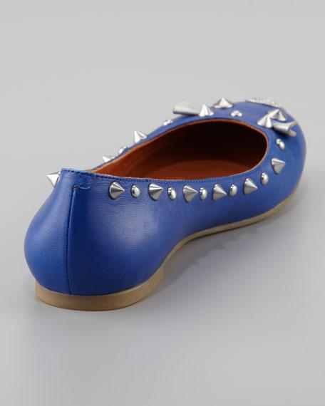 Studded Mouse Ballerina Flat, Blue