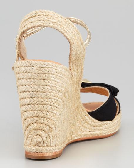 carmelita bow espadrille wedge sandal