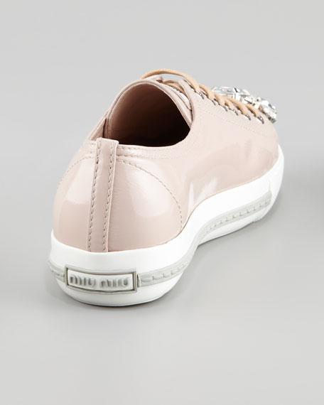 Jeweled Cap-Toe Sneaker, Cipria
