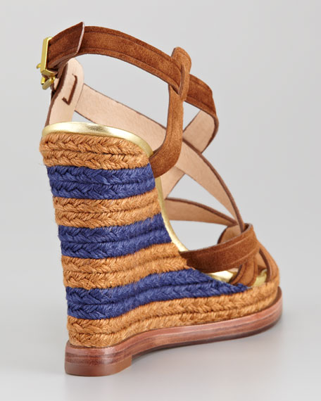 Bethany Suede Espadrille Wedge
