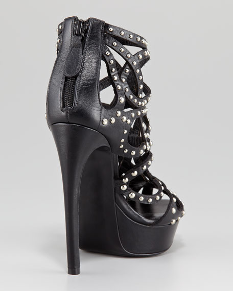 Alexander McQueen Studded Leather Cage Bootie