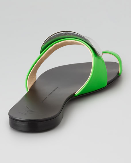 Shield-Covered Flat Slide, Green