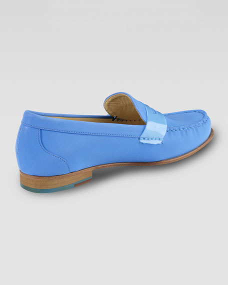 Air Monroe Suede Penny Loafer, Blue Topaz