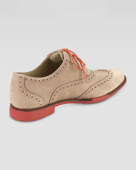 Gramercy Nubuck Oxford, Sandstone/Orange