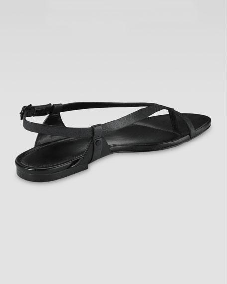 Inwood Flat Thong Sandal, Black