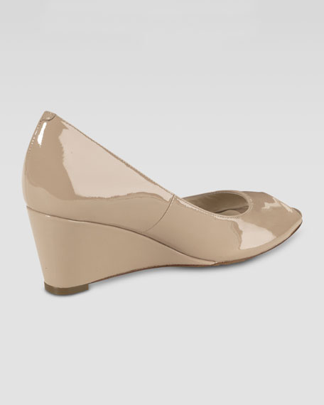 Air Talia Wedge Peep-toe Pump, Sandstone
