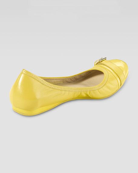 Air Reesa Buckle Ballerina Flat, Sunlight Yellow