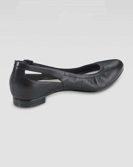 Palisade Almond Toe Ballerina Flat, Black