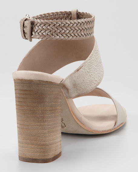 Braided Leather-Strap Sandal