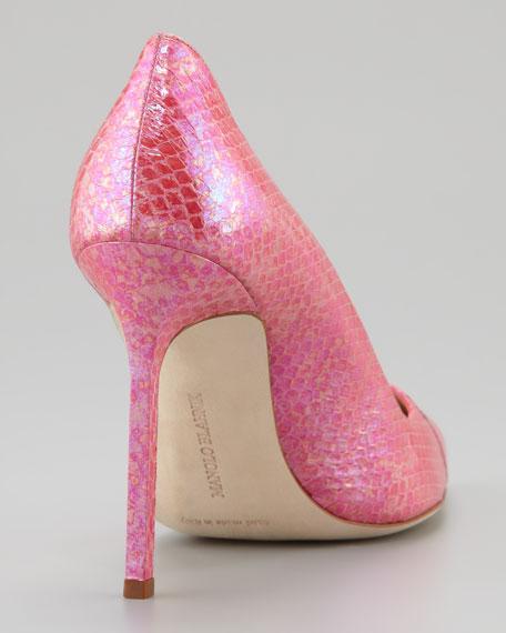 BB Snakeskin Pump, Pink