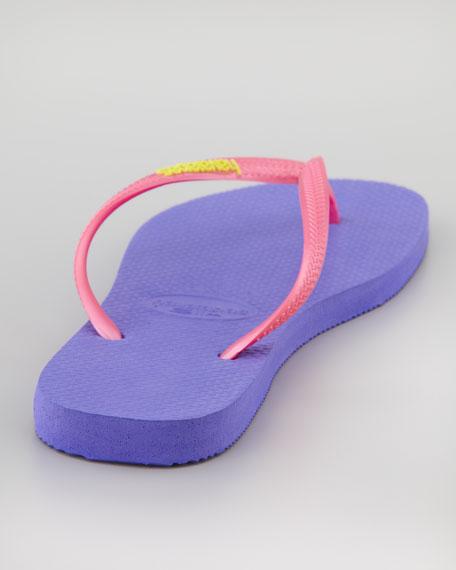 Slim Flip-Flop, Violet