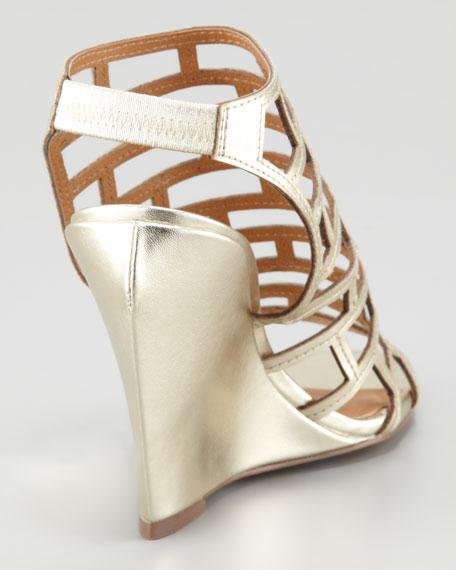 Eris Metallic Cage Sandal