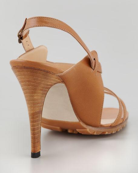 Dodo Double-Band Sandal, Caramel