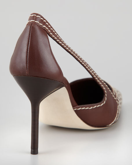 Tifo Canvas-Toe Pump, Chocolate