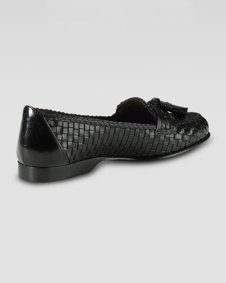 Megan Hand-Woven Slip-On, Black