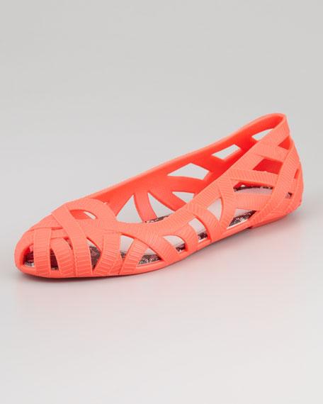 Cutout Jelly Ballerina Flat