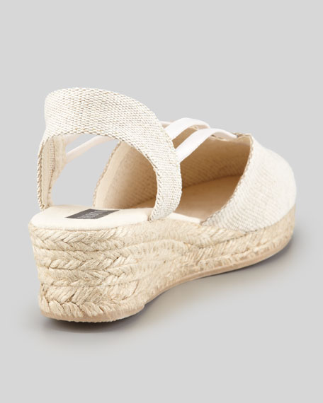 Juan Canvas Espadrille Wedge, Natural