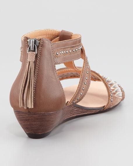 Henna Leather Gladiator Sandal